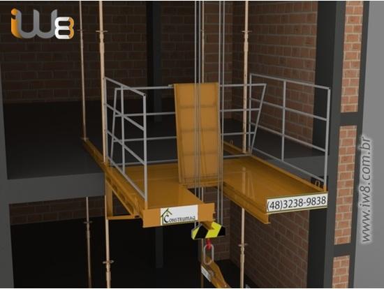 Plataforma Descarga com Alçapão  2m x 2m Cap 2.000kg