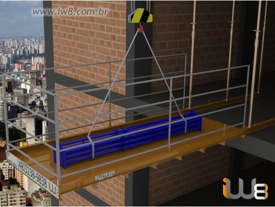 Plataforma Descarga lateral Andar 1,5m x 3,5m Cap 1500kg
