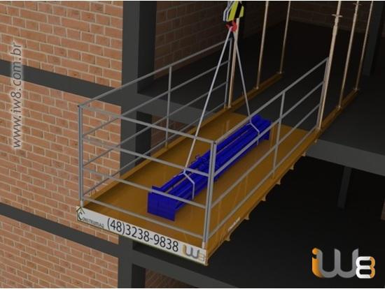 Plataforma Descarga Lateral Grua 1,5m x 3,5m Cap 1500kg