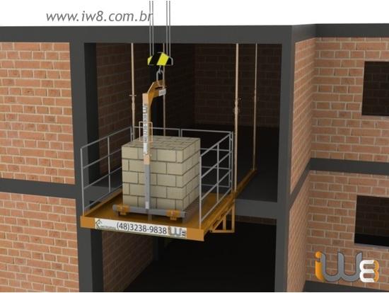 Plataforma Descarga Obra 2m x 2m cap 2.000kg