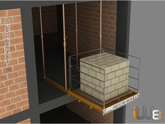 Plataforma Descarga Pallet Andar 1,5m x 1,5m Cap 1.500kg