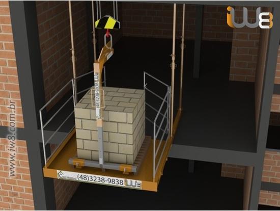 Plataforma Grua Andar Obra 1,5m x 2m Cap 1.500kg