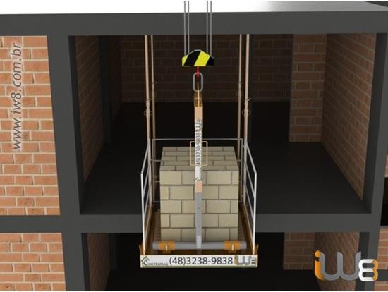 Plataforma Grua Descarga Obra 1,5m 1,5m Cap 2.000kg