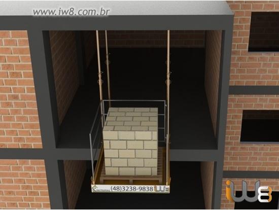 Plataforma Obras  1,5m x 1,5m Cap 1.500kg
