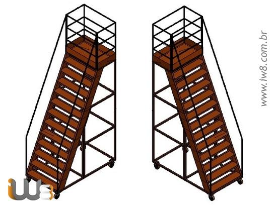 Plataformas de Trabalho com Escada