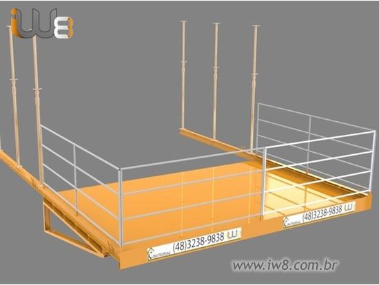 Plataformas para Descargas com Gruas 4,5m x 3,0m Cap 2000kg