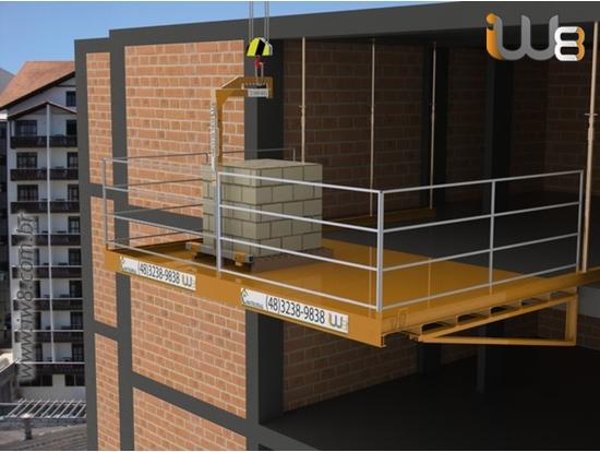 Ponteira Lateral Carga e Descarga em Obra 4,5m x 3,0m Cap 2000kg