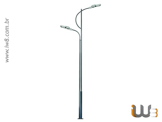 Poste Metálico para Iluminação Pública