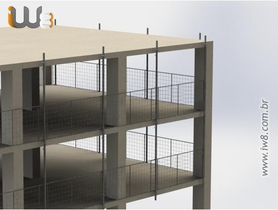 Proteção de Periferia Metálica para Obras