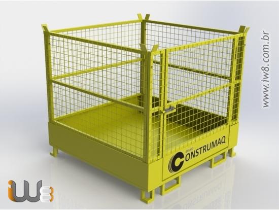 Foto do produto - Gaiola Aramada de Metal Dobrável