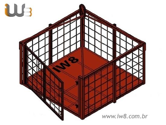 Foto do produto - Rack Transporte 1.5m x 1.5m x 0.8m Cap. 1000kg