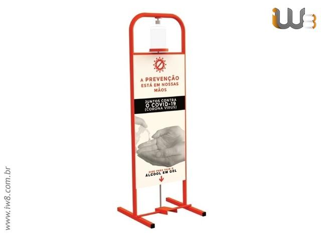 Foto do produto - Totem Álcool Gel Personalizado