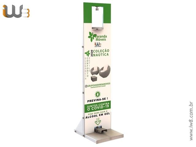 Foto do produto - Totem para Álcool em Gel
