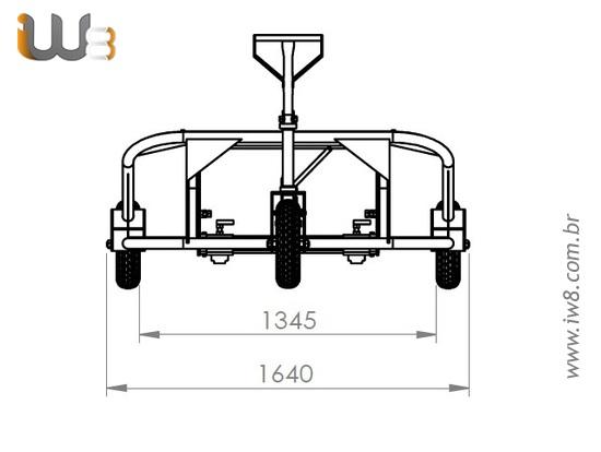 Transpaleteira 3 Rodas Hidráulica Manual