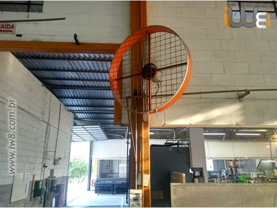Ventilador De Alta Vazão De Parede Industrial 100cm