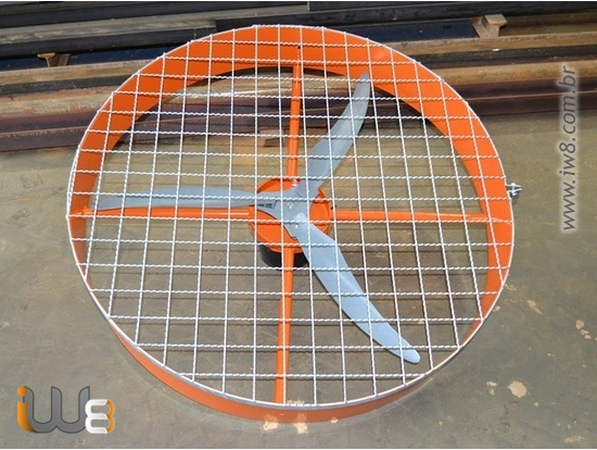Ventilador de Parede Industrial 100cm de Alta Vazão