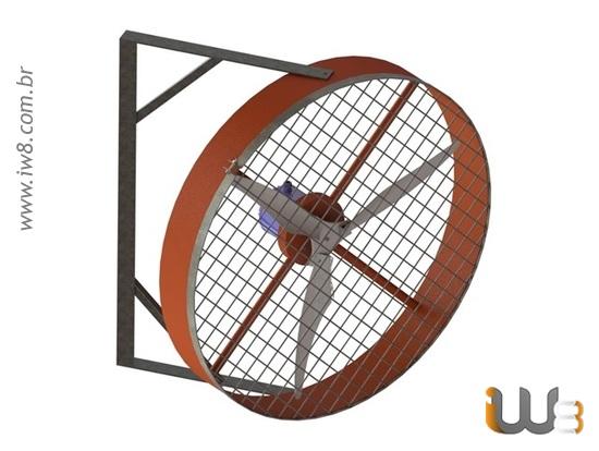 Ventilador de Parede Tufão Grande 100cm Alta Potência