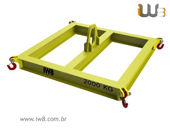 Viga Big Bag Elevada Simples 2000kg