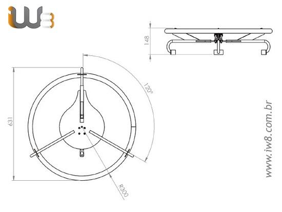 Volante para Manuseio Manual de Tambores