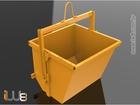 Foto do produto - Caçamba de Entulho Basculante para Grua Capacidade 1,5m³