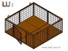 Foto do produto - Gaiola para Cubetas 2400x2400x1000 Cap. 500kg