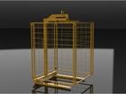 Foto do produto - Garfo Paleteiro 2.000kg Lança Regulável Altura Fixa 1,5m com Tela